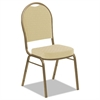 Iceberg Banquet Chairs with Dome Back, Tan/Gold, 4/Carton