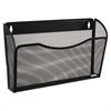 Single Pocket Wire Mesh Wall File, Letter, Black