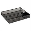 Rolodex Deep Desk Drawer Organizer, Metal Mesh, Black