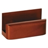 Rolodex Wood Tones Business Card Holder, Capacity 50 2 1/4 x 4 Cards, Mahogany