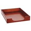Wood Tones Letter Desk Tray, Wood, Mahogany