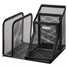 Rolodex Wire Mesh Desk Organizer with Pencil Storage, 5 3/4 x 5 1/8 x 5 1/8, Black