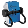 Rolodex Open Rotary Business Card File w/24 Guides, Black