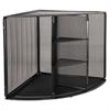 Mesh Corner Desktop Shelf, Five Sections, 20 x 14 x 13, Black