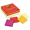 Note Pads Office Pack, 3 x 3, Canary Yellow/Marrakesh, 90-Sheet, 24/Pack