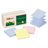 Post-it Recycled Pop-up Notes, 3 x 3, Assorted Helsinki Colors, 100-Sheet, 12/Pack