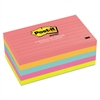 Post-it Original Pads in Cape Town Colors, 3 x 5, Lined, 100-Sheet, 5/Pack