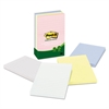 Post-it Recycled Note Pads, Lined, 4 x 6, Assorted Helsinki Colors, 100-Sheet, 5/Pack
