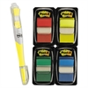 "Page Flag Value Pack, Assorted, 200 1"" Flags + Highlighter with 50 1/2"" Flags"