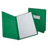 Report Cover, 3 Fasteners, Panel and Border Cover, Letter, Green, 25 per box