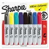 Sharpie Permanent Marker, 5.3mm Chisel Tip, Assorted Fashion, 8/Pack