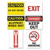 Tarifold Magneto Safety Sign Inserts, Six Assorted Messages, 8 3/4 x 11 1/4, 12/Pack