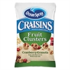 Ocean Spray Craisins Fruit Clusters, Cranberry Granola, 1.413 oz, 10/Box