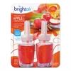 BRIGHT Air Electric Scented Oil Air Freshener Refill, Macintosh Apple/Cinnamon,2/PK, 6PK/CT