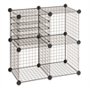 Safco Wire Cube Shelving System, 15w x 15d x 15h, Black