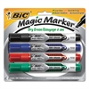 Magic Marker Low Odor & Bold Writing Dry Erase Marker, Chisel, 4/PK