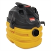Heavy-Duty Portable Wet/Dry Vacuum, 5gal Capacity, 17lb, Black/Yellow