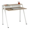 Safco Writing Desk, 37 3/4 x 22 3/4 x 34 1/4, Beech/White