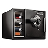 Fire-Safe 0.8 Cu. Ft. Combination with Key, 16 3/8 x 19 3/8 x 13 3/4, Black