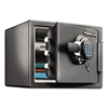 Fire-Safe 0.8 Cu. Ft. Digital with Key, 16 3/8 x 19 3/8 x 13 3/4, Gunmetal Gray
