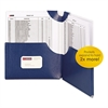 Smead Big Pocket Lockit Folder, 11 x 8 1/2, Monaco Blue, 5/Pack