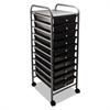 Portable Drawer Organizer, 13w x 15 3/8d x 37 3/4h, Smoke/Matte Gray
