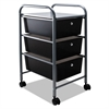 Portable Drawer Organizer, 13w x 15 3/8d x 25 7/8h, Smoke/Matte Gray