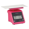 Brecknell Electronic Postal Scale, 7 lb Capacity, 5 1/2 x 5 1/5 Platform, Pink