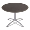 iLand Table, Dura Edge, Round Seated Style, 42 dia x 29h, Gray Walnut/Silver