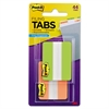 File Tabs, 2 x 1 1/2, Solid, Green/Orange, 44/Pack