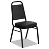Iceberg Banquet Chairs with Trapezoid Back, Black/Black, 4/Carton
