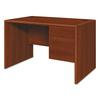 HON 10700 Series Single 3/4 Right Pedestal Desk, 48w x 30d x 29 1/2h, Cognac