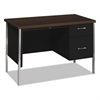 HON 34000 Series Right Pedestal Desk, 45 1/4w x 24d x 29 1/2h, Mocha/Black