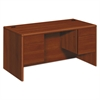 HON 10700 Series Desk, 3/4 Height Double Pedestals, 60w x 30d x 29 1/2h, Cognac