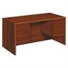 10700 Series Desk, 3/4 Height Double Pedestals, 60w x 30d x 29 1/2h, Cognac