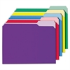 Universal Recycled Interior File Folders, 1/3 Cut Top Tab, Letter, Assorted, 100/Box