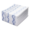 Rubbermaid Commercial HYGEN HYGEN Disposable Microfiber Cleaning Cloths, White/Blue, 12.2 x 14.3, 640/Pack