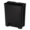 Step-On Rigid Liner For Resin End Step, Plastic, 24 gal, Black