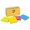 Post-it Pads in Rio de Janeiro Colors, 3 x 3, 90-Sheet, 12/Pack