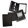 iPad Zipper Padfolio With Smart Magnetic Flap, Vinyl, Black