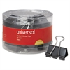 "Universal Medium Binder Clips, 5/8"" Capacity, 1 1/4"" Wide, Black, 24/Pack"