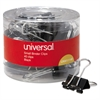 "Universal Small Binder Clips, 3/8"" Capacity, 3/4"" Wide, Black, 40/Pack"
