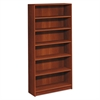 HON 1890 Series Bookcase, Six Shelf, 36w x 11 1/2d x 72 5/8h, Cognac