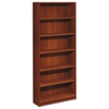 1890 Series Bookcase, Six Shelf, 36w x 11 1/2d x 84h, Cognac