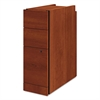 "HON Narrow Box/Box/File Pedestal for 10500/10700 Series Shells, 28"" High, Cognac"