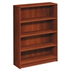 1890 Series Bookcase, Four Shelf, 36w x 11 1/2d x 48 3/4h, Cognac