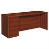 HON 10700 Series Left Pedestal Credenza, 72w x 24d x 29 1/2h, Cognac