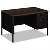 Metro Classic Right Pedestal Desk, 48w x 30d x 29 1/2h, Mocha/Black