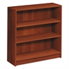 HON 1890 Series Bookcase, Three Shelf, 36w x 11 1/2d x 36 1/8h, Cognac