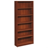 1870 Series Bookcase, Six Shelf, 36w x 11 1/2d x 84h, Cognac